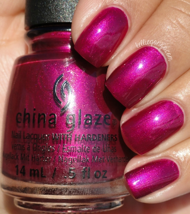 China Glaze My Lodge or Yours? + Better Not Pout 2